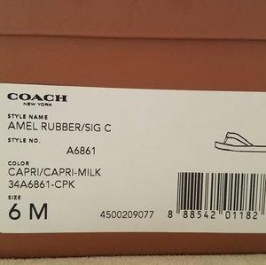 Coach Amel rubber flip flops NWT